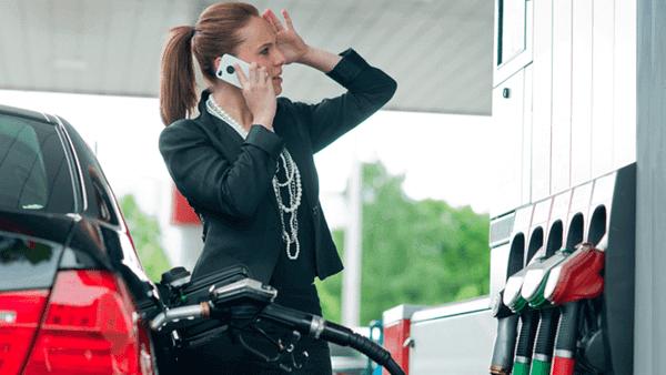Benzin tankolása dízel üzemű autóba